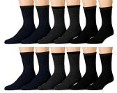 12 Pairs of Mb55 Mens Casual Thermal Tube Socks in Assorted Colors, Size 10-13