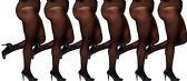 6 Pack of WSD Plus Size Womens Ultra Sheer Pantyhose, Microfiber, Extra Wide Queen Size (Black, Queen)