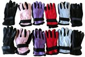 12 Pairs Of excell Woman's Warm Winter Fleece Gloves,Assorted,One Size