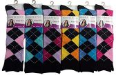 6 Pairs Of Mod And Tone Woman Designer Knee High Socks, Boot Socks (9-11, Pack E)