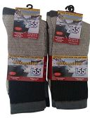 12 Pairs of excell Men's Winter Warm Thermal Tube Socks, Size 10-13