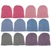 12 Units Of excell Mens Womens Warm Winter Hats In Assorted Colors, Mens Womens  (Assorted Stripes B)