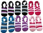 12 Pack Of excell Womens Fuzzy Slipper Socks With Gripper Bottom, Assorted Colors