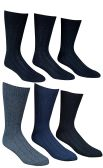 6 Pairs Of excell Mens Premium Winter Wool Socks With Cable Knit Design (1506),10-13 black,grey,blue