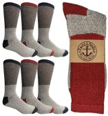 Yacht & Smith Men's Winter Thermal Cotton Crew Socks Size 10-13