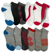 12 Pairs of WSD Womens Ankle Socks, No Show Athletic Sports Socks, Assorted (Assorted Multicolor)