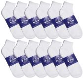 12 Pairs of Men Socks Ankle, Sport Athletic Low Cut No Show Socks (White)