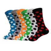 Yacht & Smith Womens Thin Cotton Polka Dot Crew Sock