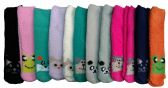 excell Womens Fuzzy Socks Crew Socks, Warm Butter Soft, 12 Pair Pack, Animal A, 9-11