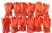 12 Pairs Of excell Orange Fleece Winter Gloves, Hunting Gloves