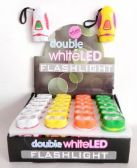 Double White LED Mini Flashlight