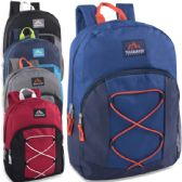 Trailmaker 17 Inch Bungee Backpack With Side Pocket - 5 Colors