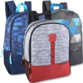 17 Inch Daisy Chain Color Block Backpacks - 3 Colors