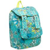 16 Inch Quilted Cotton Backpack - Floral Print