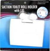 Suction Toilet Roll Holder with lid