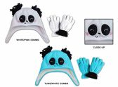 Wholesale Sock Deals 24 Pack Of WSD Toddler Fleece Lined Earflap Hat & Magic Glove Sets - Animal Designs