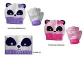 Wholesale Sock Deals 24 Pack Of WSD Toddler Girl's Hat & Magic Glove Sets - Panda Bear Designs