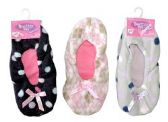 3 Pair Value Pack Ladies Butter Toes Slipper Sock Non-Slip Booties