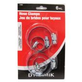 6 PIECE DELUXE HOSE CLAMPS