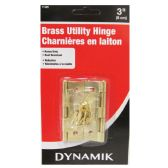 """2 PIECE. 3"""" BRASS UTILITY HINGES"""