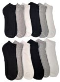 Low Cut Socks for Men Cotton No Show Ankle Socks (12 Pairs - Many Styles) (Assorted (White/Black/Gray))