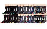 36 Pairs Value Pack of excell Mens Colorful Designer Dress Socks, Cotton Blend Fashion Socks for Men (Assorted A)