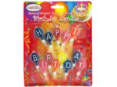"Balloon-Shaped ""Happy Birthday"" Candles"