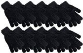 Value Pack of excell Mens and Womens Warm And Stretchy Winter Gloves, Unisex (Chenille Black)