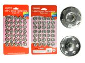 35pc Silver Snap Fasteners
