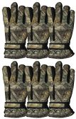 6 Pairs Value Pack of excell Mens Ski Gloves, Hunter Gloves