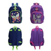"""17 """" Printed Girls Backpacks in 2 Assorted Colors"""