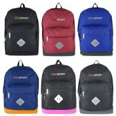 """Wholesale 17"""" Sport Backpacks In 6 Solid Colors"""