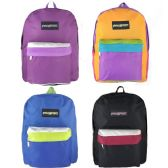 """Wholesale 17"""" Backpacks In 4 Assorted Colors"""