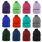 """19"""" Basic Backpack in 12 Assorted Colors"""