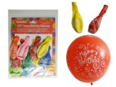 """10 Pc Happy B-Day Balloons Size: 12"""", 2.8g Each"""