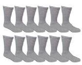 Men's Lanthra Gray Cotton Crew Sock Size 10-13 - Mens Crew Socks