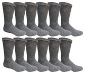 Men's Dark Gray Cotton Crew Sock Size 10-13