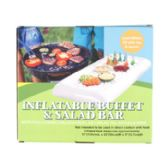 Inflatable Salad Bar Buffet 51x22x5in Color Boxed Food Grade Pvc