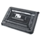 10x14in Plastic Serving Tray W/lid