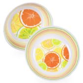 10in Melamine Citrus Serving Bowl in 2ast Pattern w/Upc Label