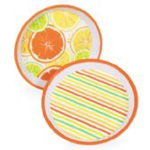 Melamine Citrus 11.75in Serving Tray in 2 asst Patterns