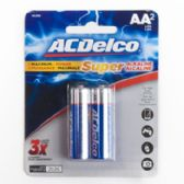 2pk AA Alkaline Batteries Ac Delco Carded