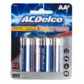 8pk Alkaline AA Batteries Ac Delco Carded