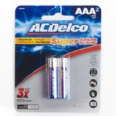 2pk AAA Batteries Alkaline Ac Delco Carded