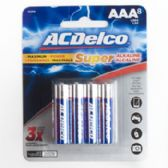 8pk AAA Alkaline Batteries Ac Delco Carded