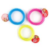 4.5in Rubber Ring Dog Toy With Spikes