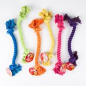 Dog Toy Rope Chew 6 Assorted Colors & Styles In Pdq