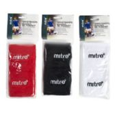 Wristband Pair Mitre Asst Colors Carded