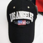 """Los Angeles"" Base Ball Cap With American Flag"