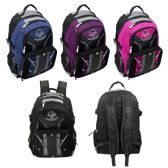 "18"" Laptop Sleeve with Multi-Compartment Backpacks in 4 Assorted Colors"